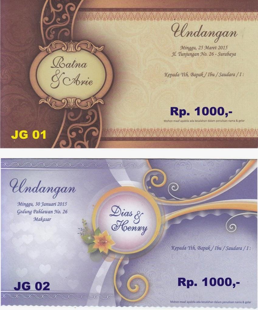 Gambar Kartu Undangan Pernikahan Dan Khitan Harga Mulai Rp