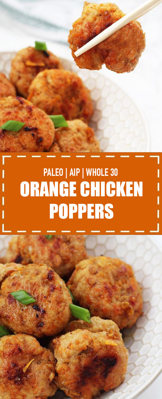 Orange Chicken Poppers (Paleo, AIP, Whole 30)