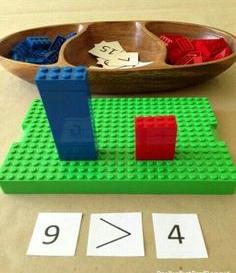 Maior que e menor que com LEGO
