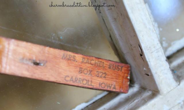 Mrs. Rachel Rust signed vintage handmade oversized wooden rosary