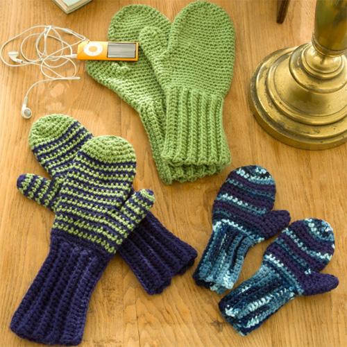 Crochet Mittens - Free Pattern