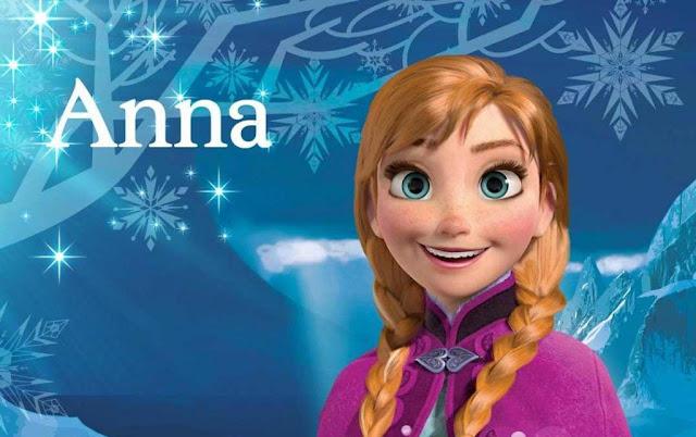 anna é uma princesa doce, amorosa e princesa linda