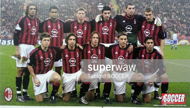 Poster Tim AC Milan 2002