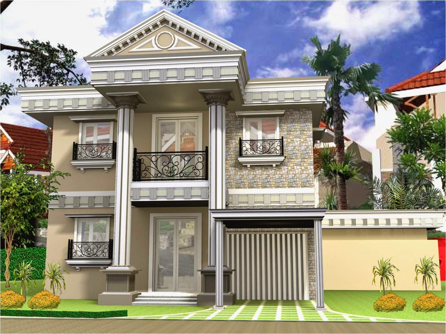 Download Gambar Desain Rumah Bergaya Eropa Klasik Model Minimalis