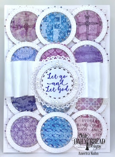 Our Daily Bread Designs Custom Dies:Filigree Circles, Double Stitched Circles, Double Stitched Rectangles, Stamp Set: God Quotes 2, Paper Collection: Christian Faith