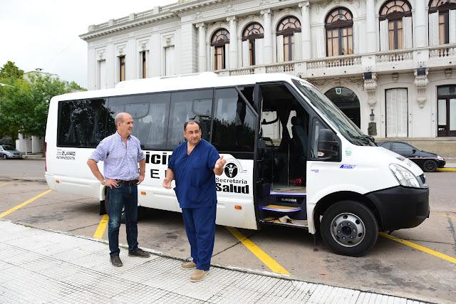 Salud: Pablo Javier Zurro presentó una nueva unidad de traslado