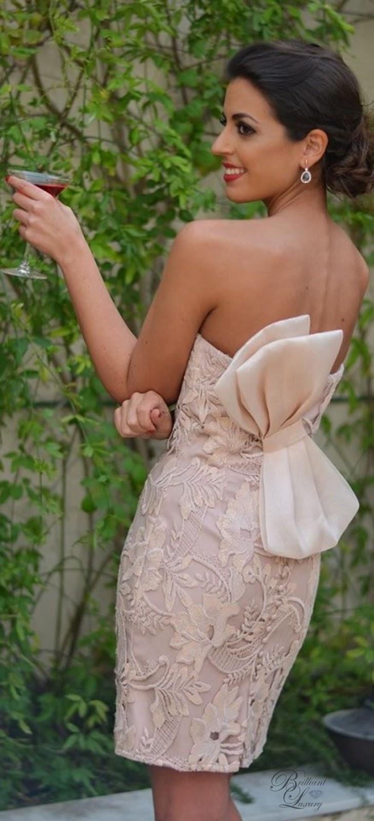 Brilliant Luxury ♦ Silvia Navarro Dalia dress with bow details