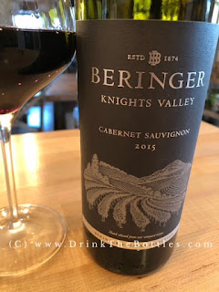 2015 Beringer Knights Valley Cabernet Sauvignon Label