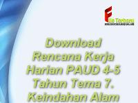 Download Rencana Kerja Harian PAUD 4-5 Tahun Tema 7 Keindahan Alam
