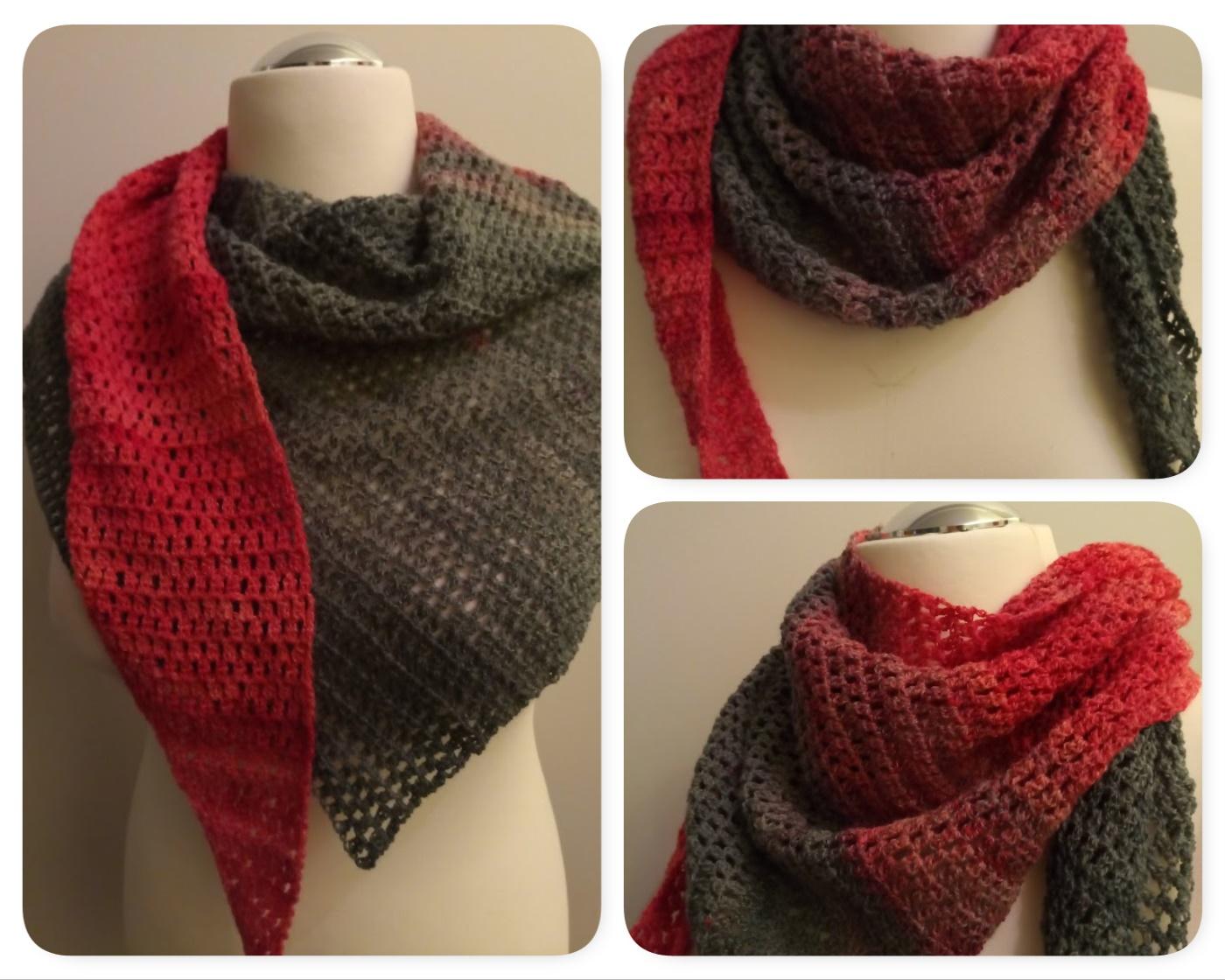 Awesome Rotes Herz Gehäkelten Schal Muster Embellishment - Decke ...