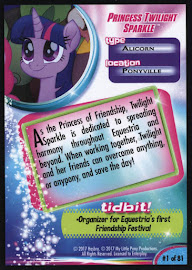My Little Pony Princess Twilight Sparkle MLP the Movie Trading Card