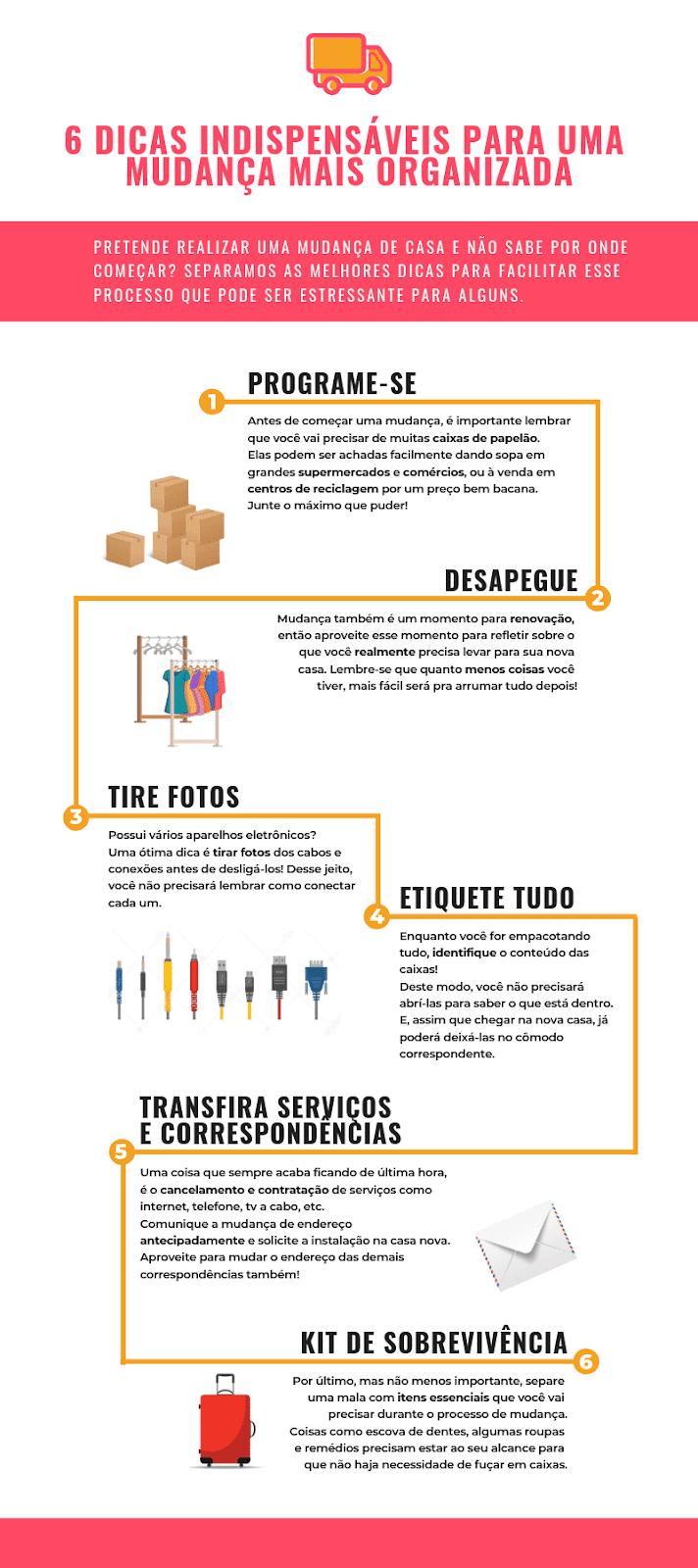 6 dicas indispensáveis para realizar uma mudança mais organizada