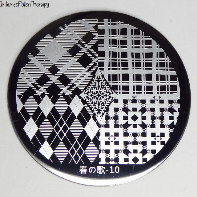 BornPrettyStore - 春の歌 5.5cm Round Nail Art Stamp Template Diamond Shape Design Image Plate 10