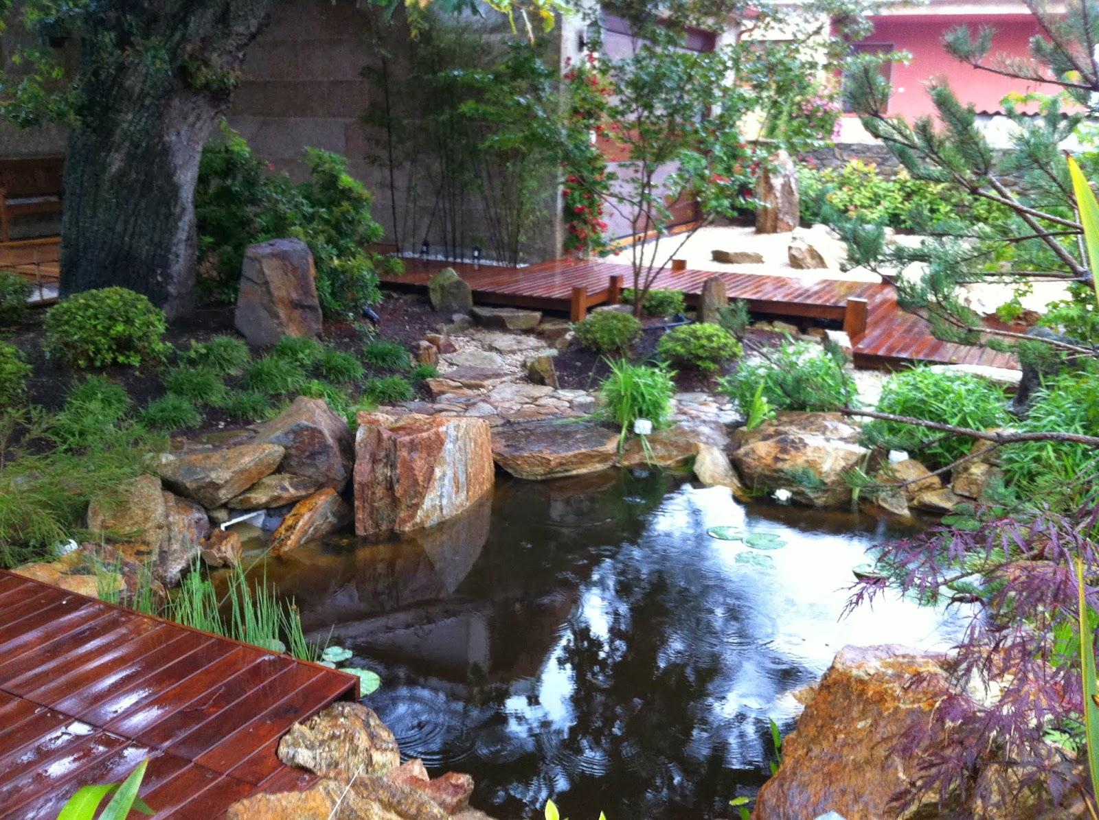 My japanese garden european association el estanque - Estanques en el jardin ...