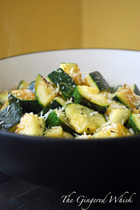 Garlic Roasted Zucchini is a great summer side dish