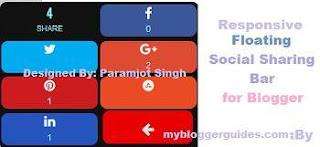 Responsive Floating Social Share Bar for Blogger