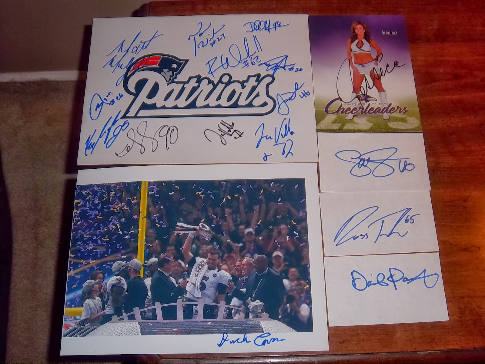 Dion S Autograph Collection Patriots Ravens 12 22 2013 Ouch
