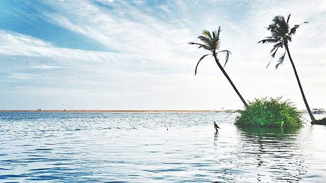 Poovar beach on Poovar Island, Kerala