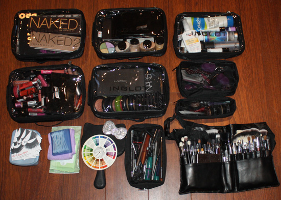 TINAMARIEONLINE: How to Pack Like a Makeup Artist [Makeup