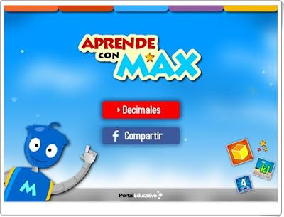 """Aprende con Max: """"Decimales"""" (Matemáticas de Primaria)"""