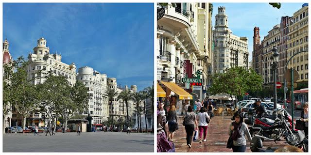Walencja - miasto w Hiszpanii,widok na ulice i budynki