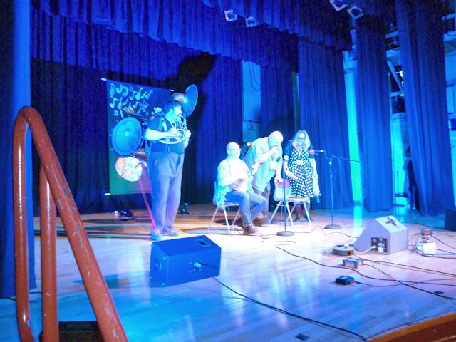 Phil Doleman on stage at Grand Northern Ukulele Festival