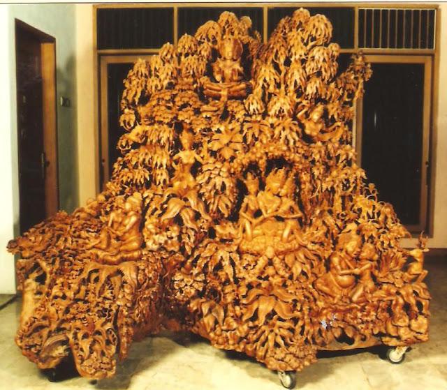 wooden sculpture art