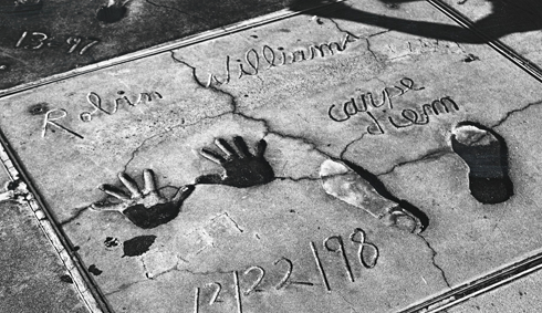 robin williams handprints footprints hollywood