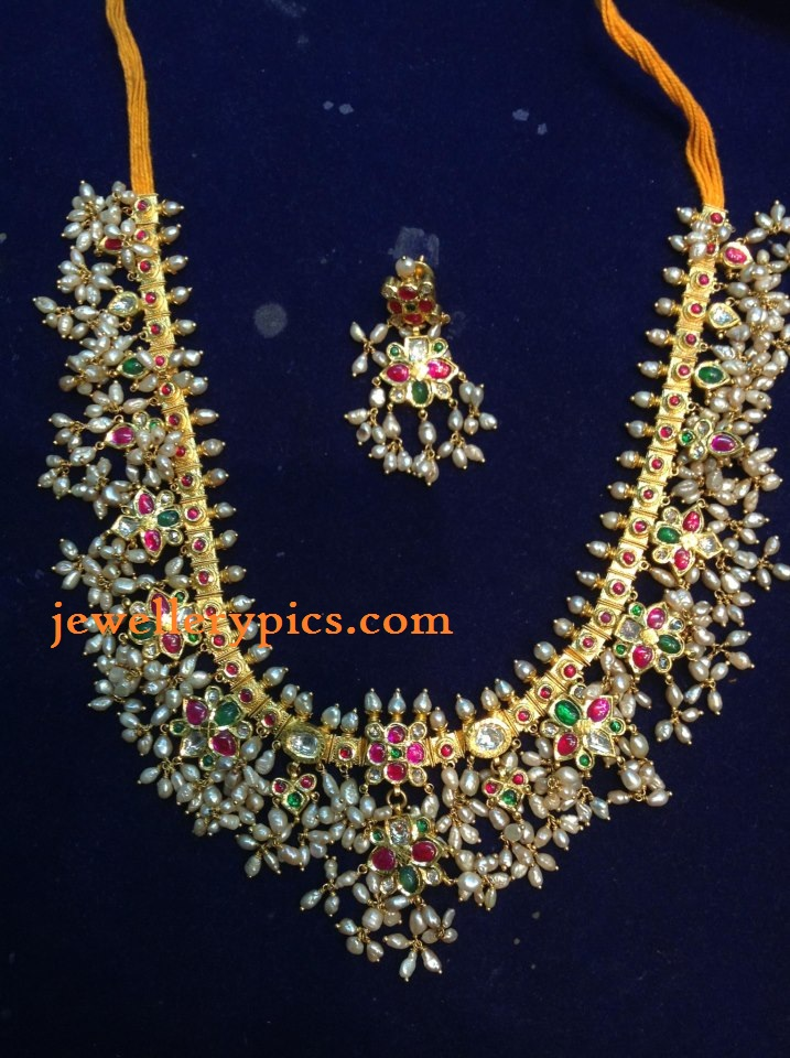 Antique Guttapusalu Necklace By Konadia Jewellers Latest