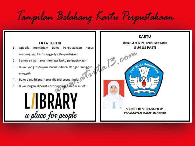 Contoh Kartu Perpustakaan Versi Words.Doc SD,SMP,SMA