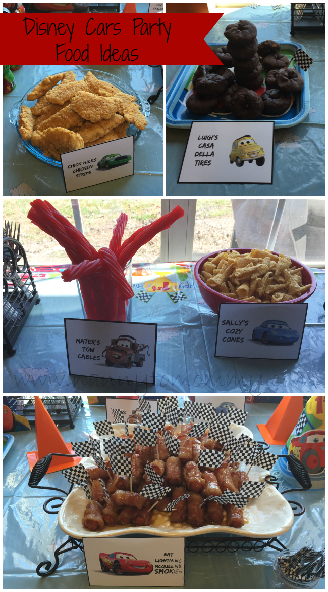 Disney Cars Free Food Printables