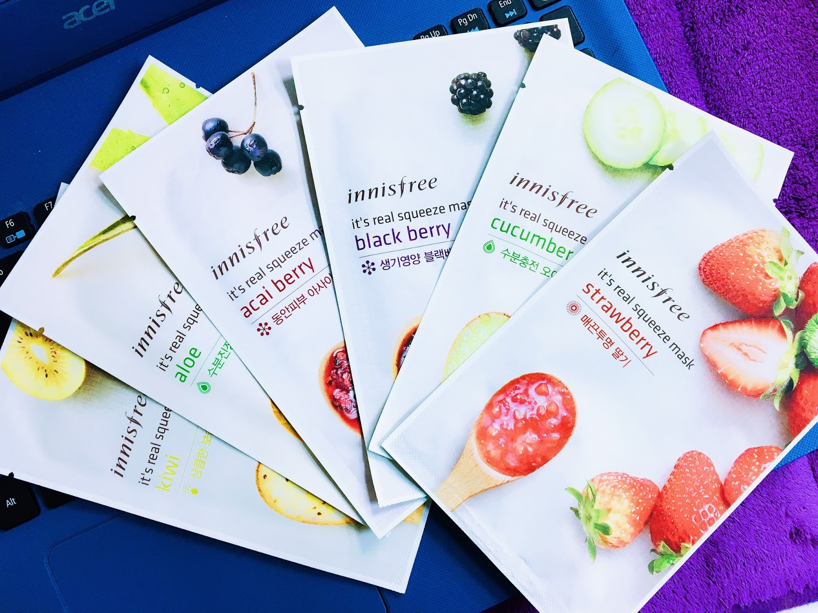 Innisfree Its Real Squeeze Mask Review Thinker Belle Black Berry