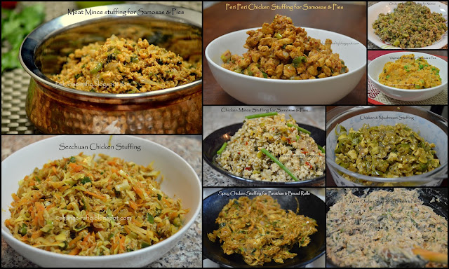 Stuffing recipes for sandwiches, samosas, pies