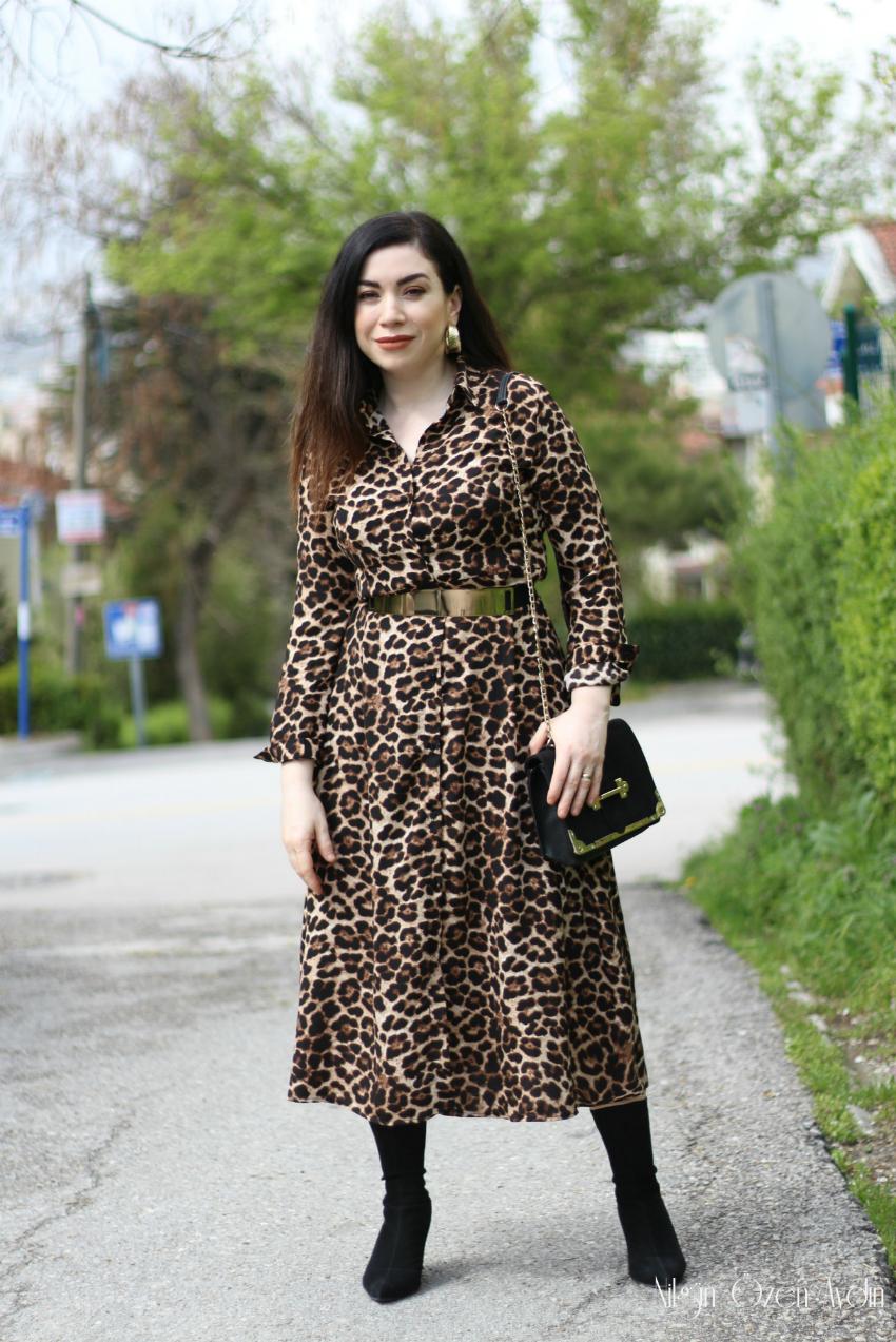 alışveriş-Leopar Elbise-shein