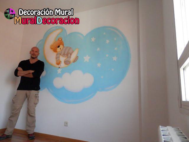 murales_infantiles_valladolid_osito_decoración