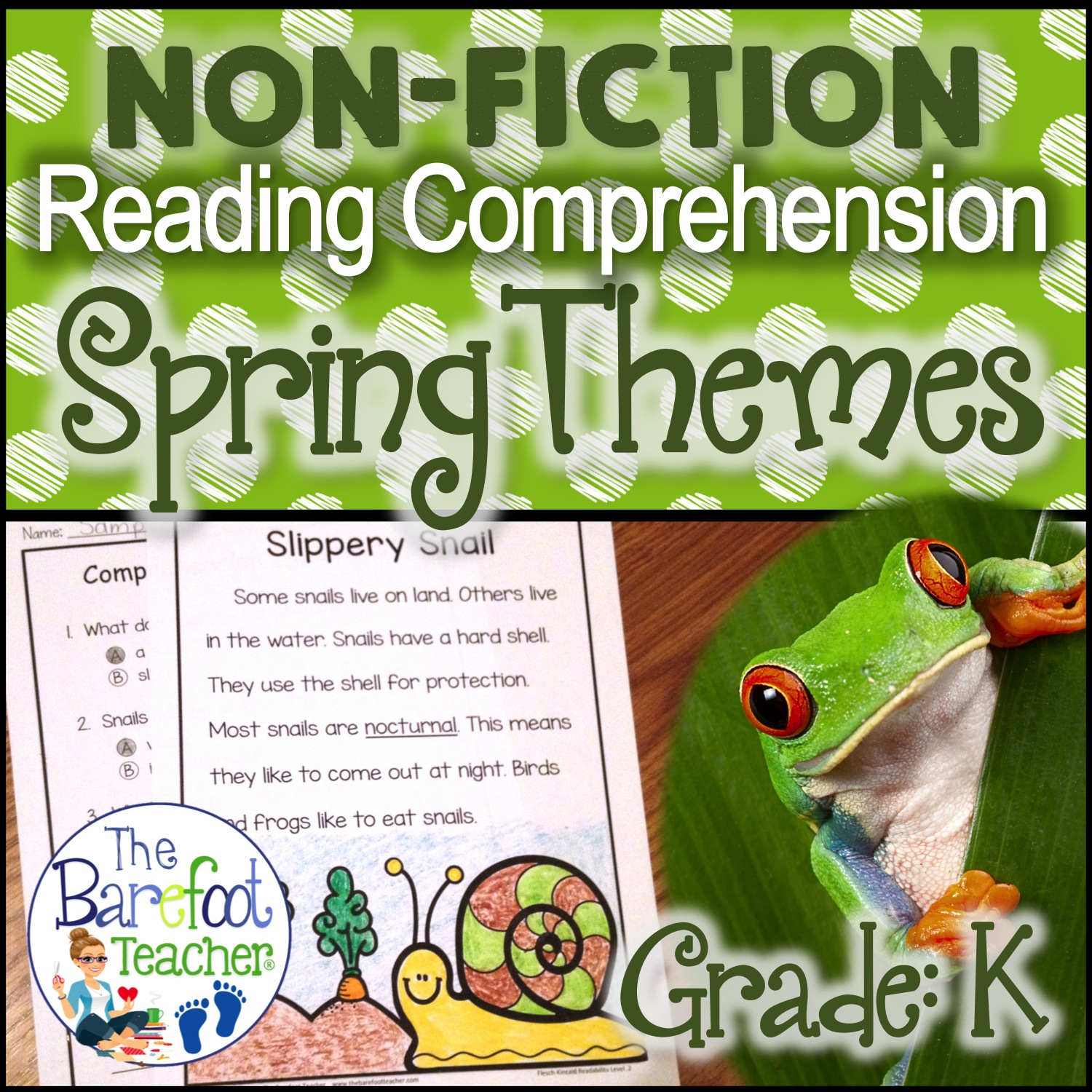 Spring Themed Reading Comprehension Pack Plus A Free