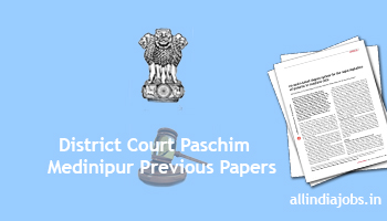 district court paschim medinipur group d previous papers pdf