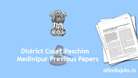 District Court Paschim Medinipur Group D Previous Papers