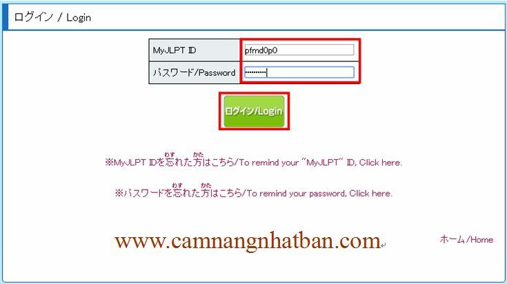 hướng dẫn đăng ký thi tiếng Nhật qua mạng