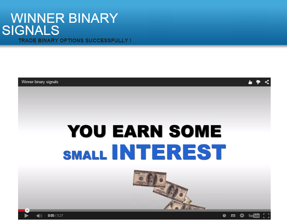 Binary option winner
