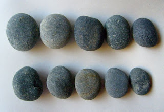 unpainted rocks, smooth, stones