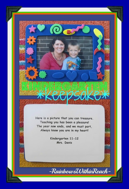 photo of: End of the Year Kindergarten Keepsake (via RoundUP of End of Year Poems at RainbowsWithinReach)