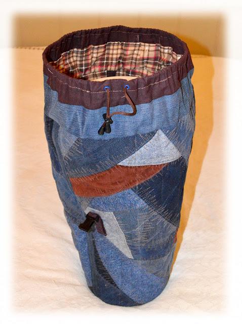 джинсовый крейзи квилт