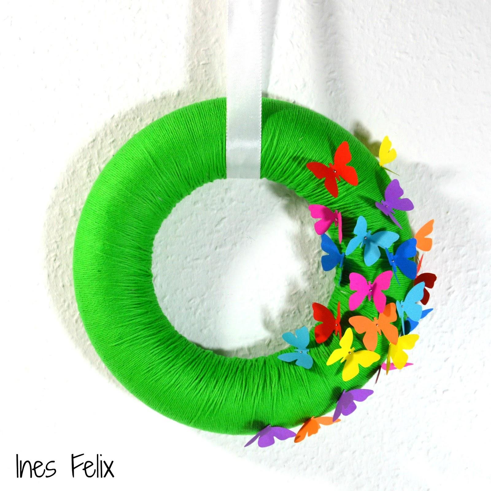 ines felix kreatives zum nachmachen fr hlingskranz f r die eingangst r. Black Bedroom Furniture Sets. Home Design Ideas
