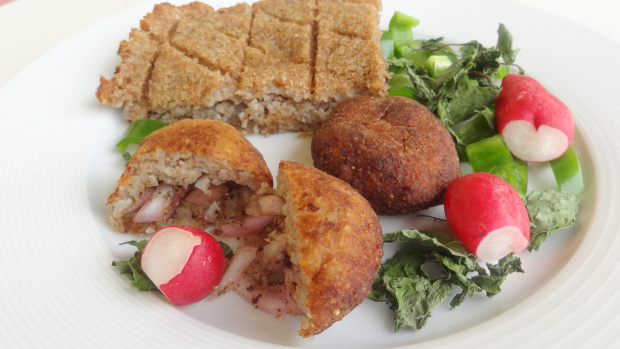 There is a wide variety of Kibbe recipes in Lebanon Vegetarian Potato Kibbe (Kibbet Batata) Recipe