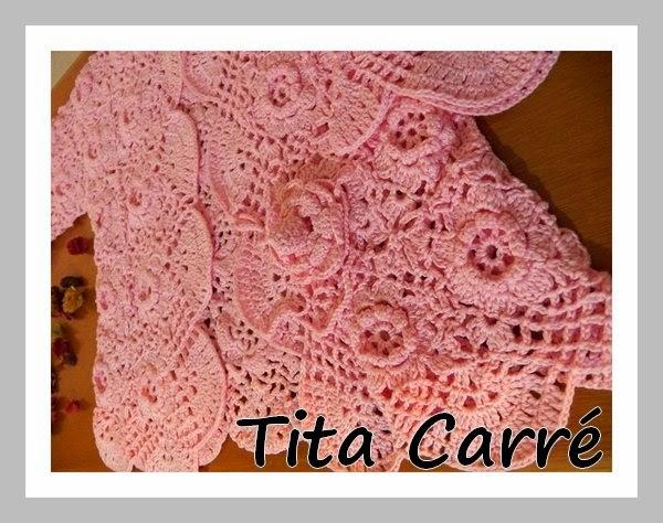 Casaqueto Bolero Floral Rosa Vintage