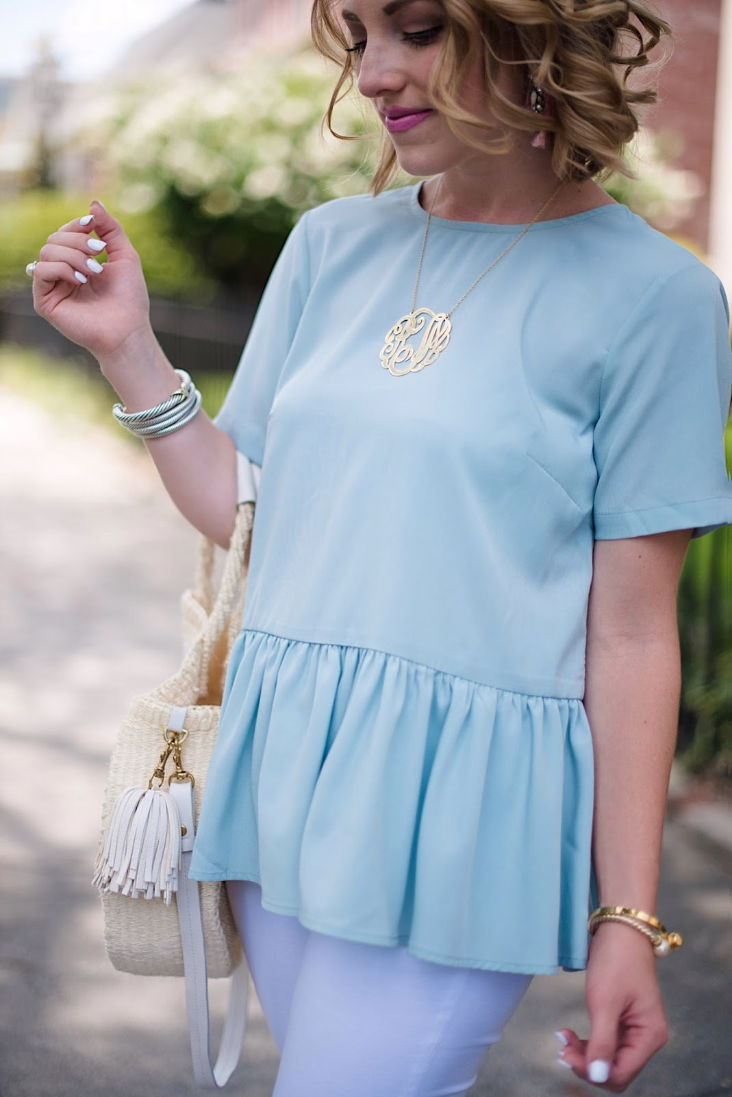 Peplum Top - Click through to see more on Something Delightful blog!