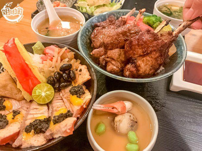 生食熟食炸物烤物通通有水準,百吃不膩的日式丼飯-騰戶丼飯專賣