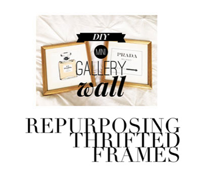 thrifted frames, repurposed frames, gallery wall, DIY
