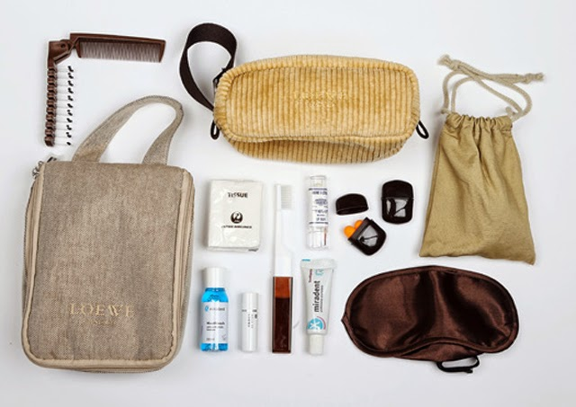 First class amenities bag